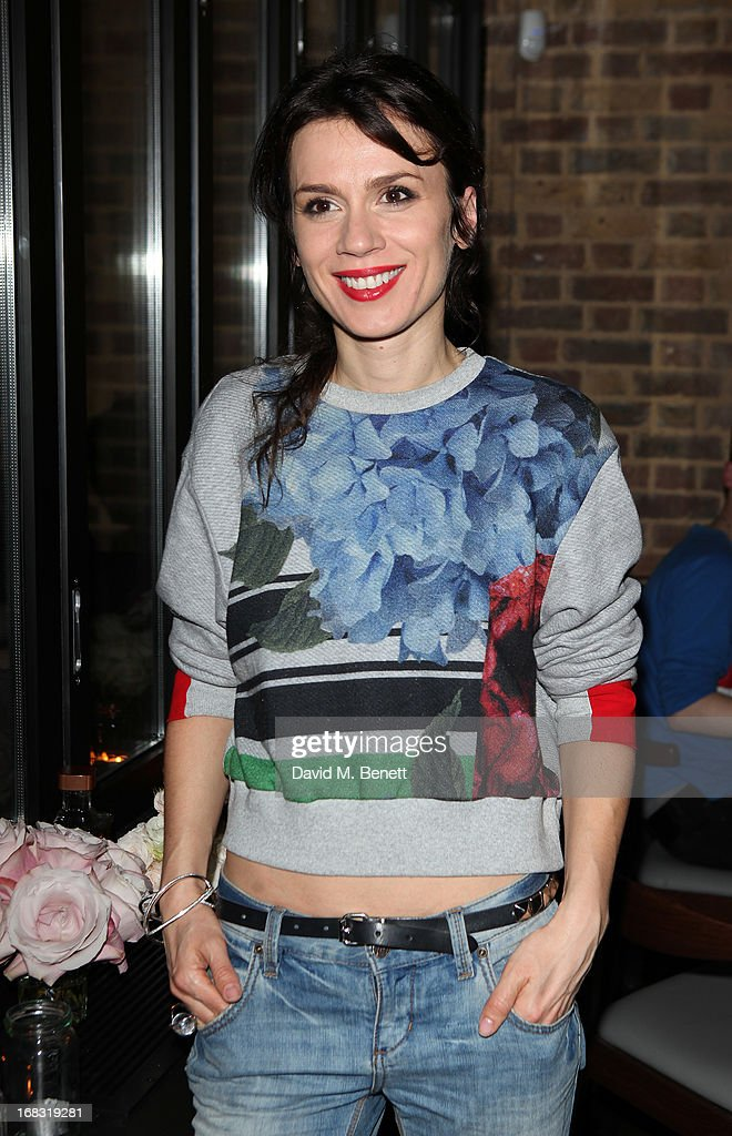 Lara Bohinc attends the BLK DNM Dinner with Johan Lindeberg and Kim Sion at Beagle Restaurant on May 8, 2013 in London, England.