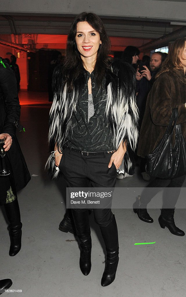 Lara Bohinc attends the launch of artist Dinos Chapman's first album 'Luftbobler' at The Vinyl Factory on February 27, 2013 in London, England.
