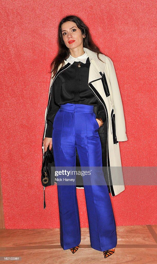 Lara Bohinc attends the Roksanda Ilincic show during London Fashion Week Fall/Winter 2013/14 at on February 19, 2013 in London, England.