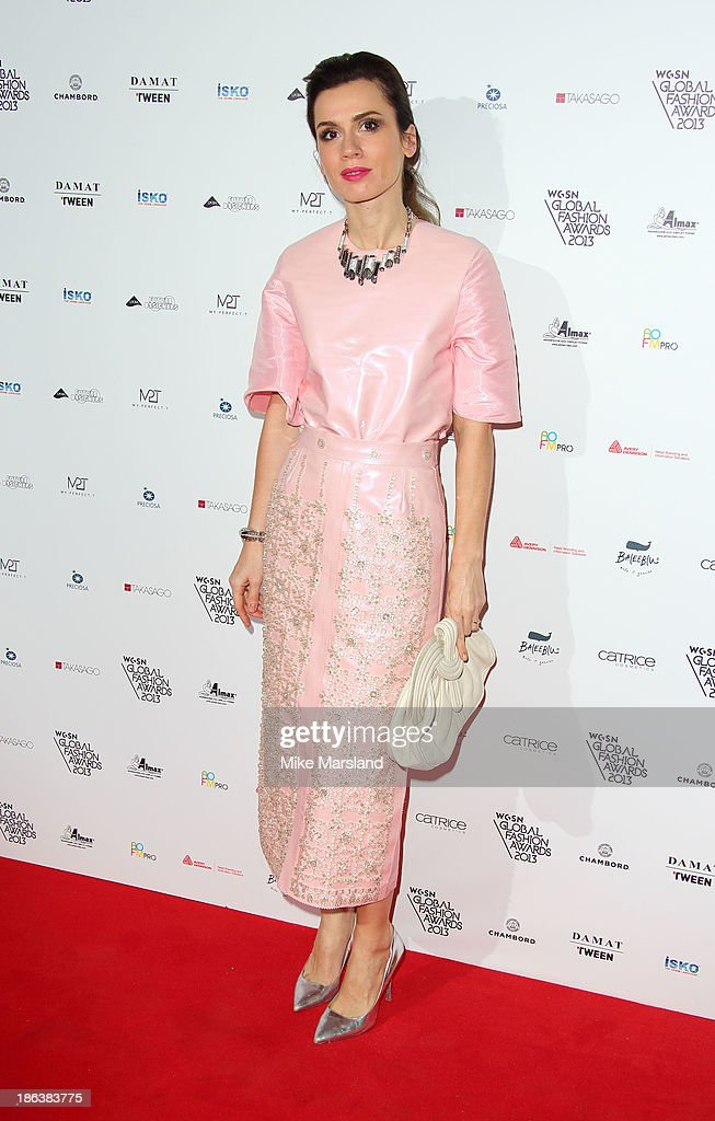 Lara Bohinc attends the WGSN Global Fahsion awards at Victoria & Albert Museum on October 30, 2013 in London, England.
