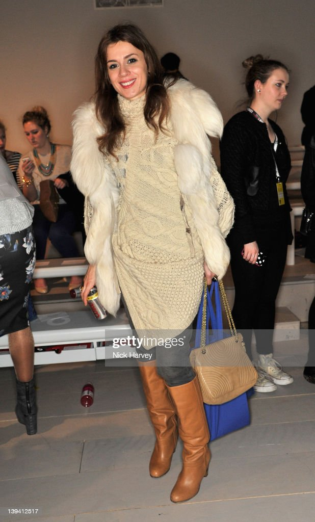 Lara Bohinc seen front row at the Mark Fast Autumn/Winter 2012 show at London Fashion Week at Somerset House on February 20 2012 in London England