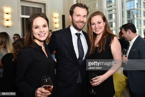 Lara Coghlan Oliver Dazhsel and Olga Nescoba attend AVENUE Celebrates Petra Nemcova's April/May Cover and their Philanthropy Issue and the...