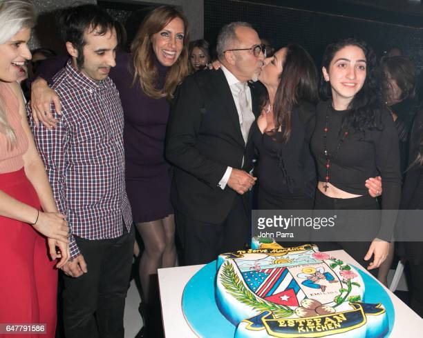 Lara Coppola Nayib Estefan Lili Estefan Emilio Estefan Gloria Estefan and Emily Estefan celebrate Emilio's birthday during grand opening of the...