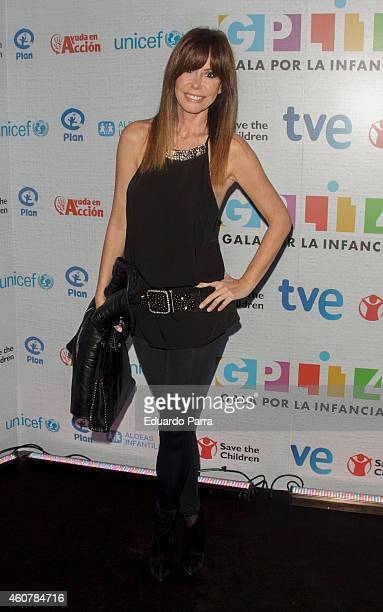 Lara Dibildos attends the Gala for Children photocall at Magarinos sports center on December 22 2014 in Madrid Spain