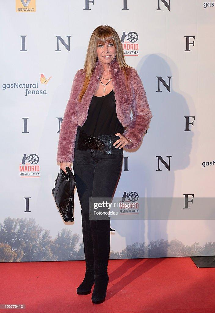 Lara Dibildos attends the premiere of 'Fin' at Callao Cinema on November 20, 2012 in Madrid, Spain.