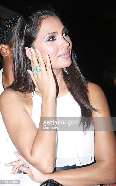 Lara Dutta at the music launch of the movie 'Chalo Dilli' at Pritam Da Dhaba Mumbai on April 5 2011