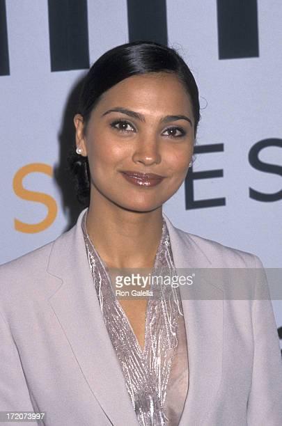 Lara Dutta attends AmFAR 'An Evening on Ellis Island' Benefit Gala on June 21 2000 at the Immigration Museum on Ellis Island in New York City