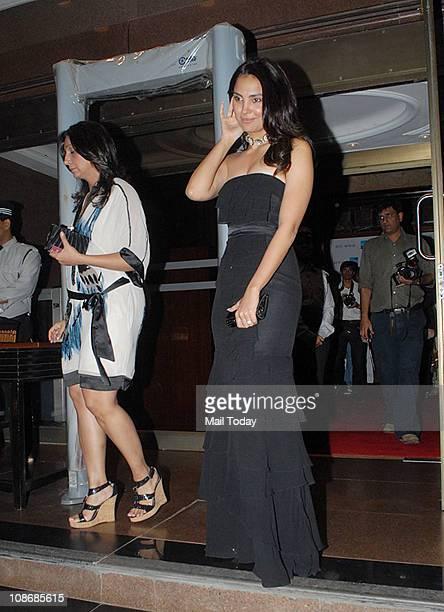 Lara Dutta during designer Ritu Kumar's show held at Taj Land's End in Mumbai