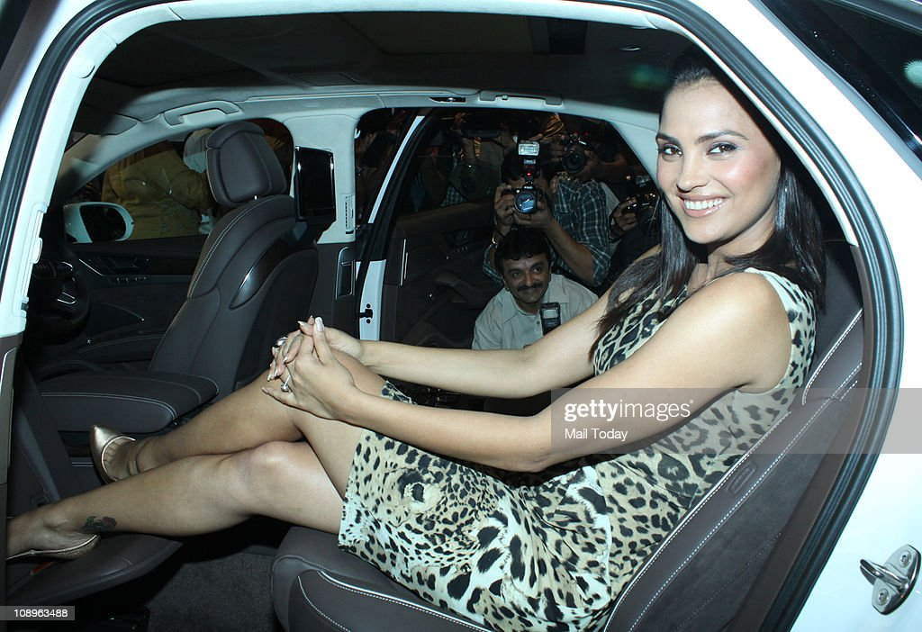 <a gi-track='captionPersonalityLinkClicked' href=/galleries/search?phrase=Lara+Dutta&family=editorial&specificpeople=728080 ng-click='$event.stopPropagation()'>Lara Dutta</a> during the launch of the new Audi A8 at Audi Showroom in Mumbai on February 09, 2011.