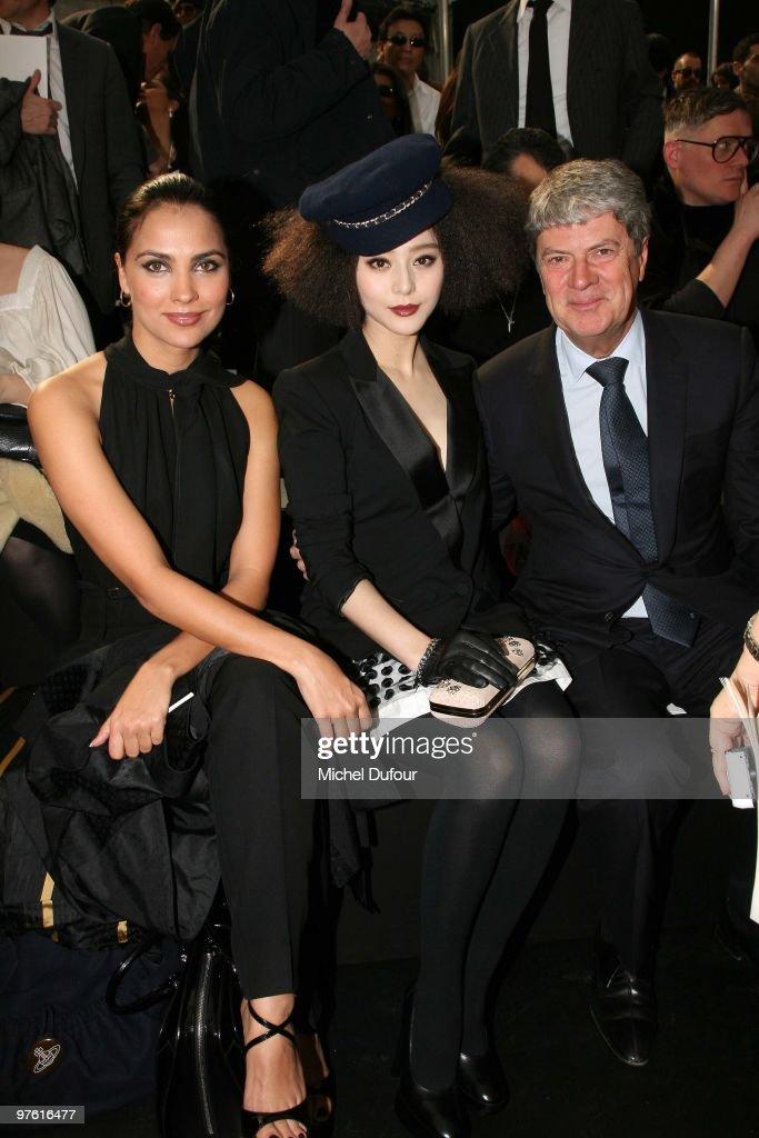 Lara Dutta Fan Bingbing and Yves Carcelles attend the Louis Vuitton Ready to Wear show as part of the Paris Womenswear Fashion Week Fall/Winter 2011...