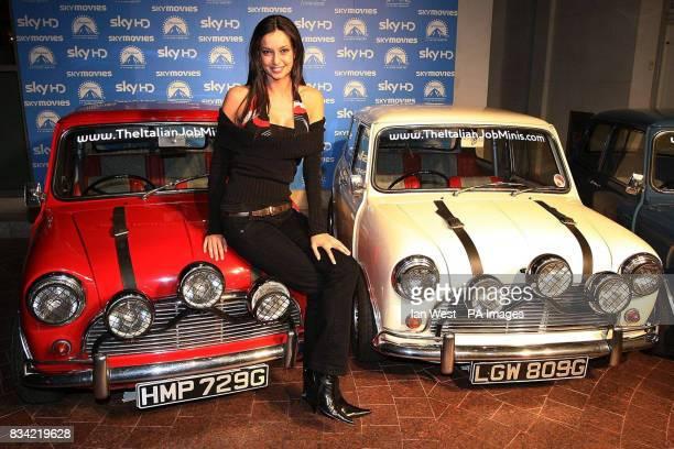Lara Esporta arrives at the screening of The Italian Job in HD on Sky Movies at the Soho Hotel London