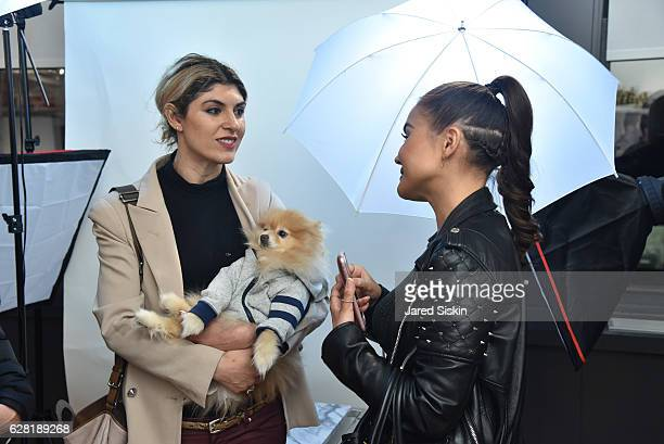 Lara Eurdolian and Maryam Maquillage attend The Studio @ Tractenberg Co Launch Party at Tractenberg Co on December 6 2016 in New York City
