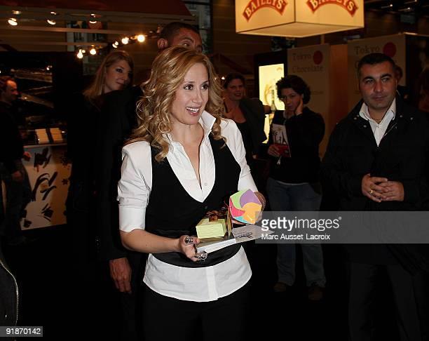 Lara Fabian attend the Salon Du Chocolat 15th Anniversary Opening Night at the Porte Versaillesin Paris France on October 13 2009 in Paris France