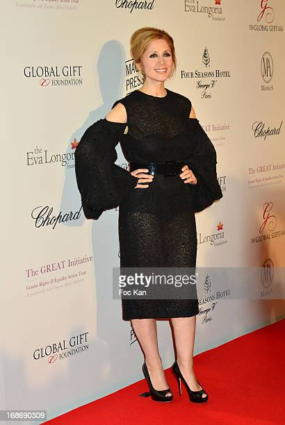 Lara Fabian attends the Eva Longoria Presents 'Global Gift Gala' 2013 Photocall at the Hotel Four Season GeorgesV on May 13 2013 in Paris France