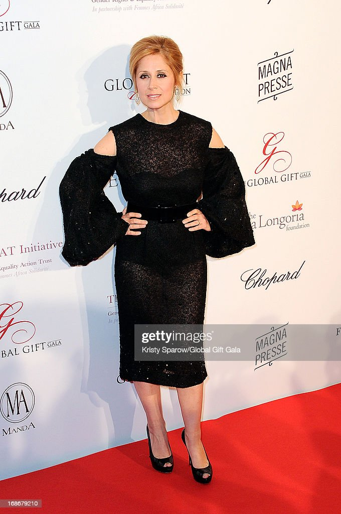 Lara Fabian attends the 'Global Gift Gala' at Hotel George V on May 13, 2013 in Paris, France.