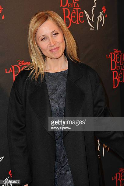 Lara Fabian attends the 'The Beauty And The Beast' Premiere at Theatre Mogador on March 20 2014 in Paris France