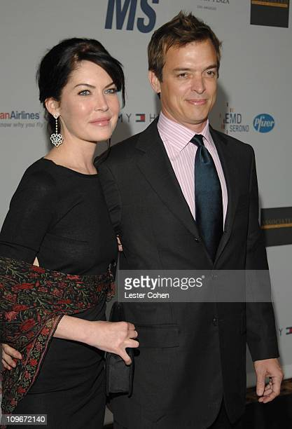 Lara Flynn Boyle and guest during 14th Annual Race to Erase MS Themed 'Dance to Erase MS' Red Carpet at Hyatt Regency Century Plaza in Century City...