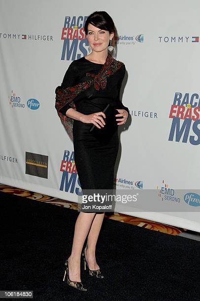 Lara Flynn Boyle during 14th Annual Race to Erase MS Themed 'Dance to Erase MS' Arrivals at Century Plaza Hotel in Century City California United...