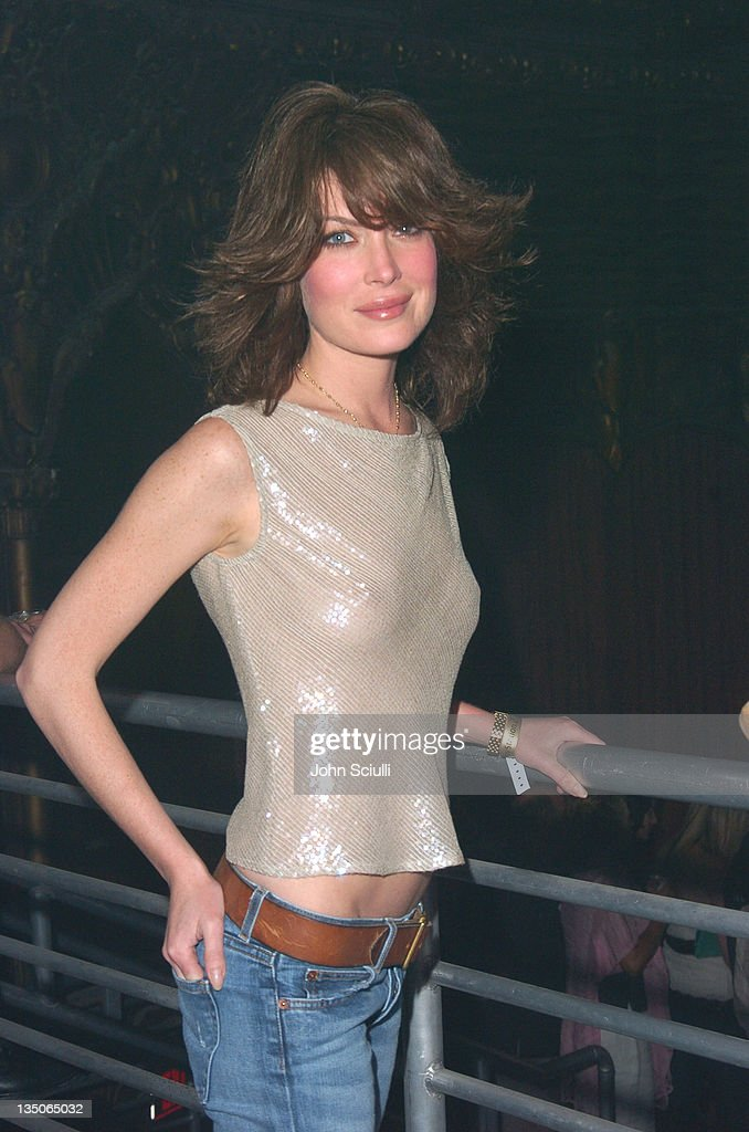 Lara Flynn Boyle during Playstation 2 Offers A Passage Into 'The Underworld' - Inside at Belasco Theater in Los Angeles, California, United States.