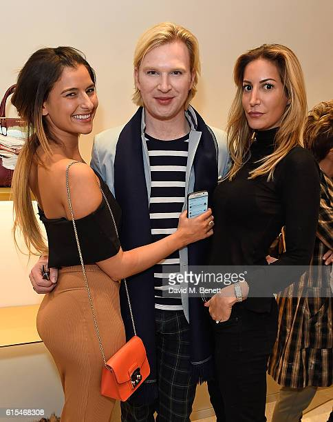 Lara Fraser Henry Conway and Laura Pradelska attend the launch of the unique collaboration between designers John Monique Davidson and artist Tanya...