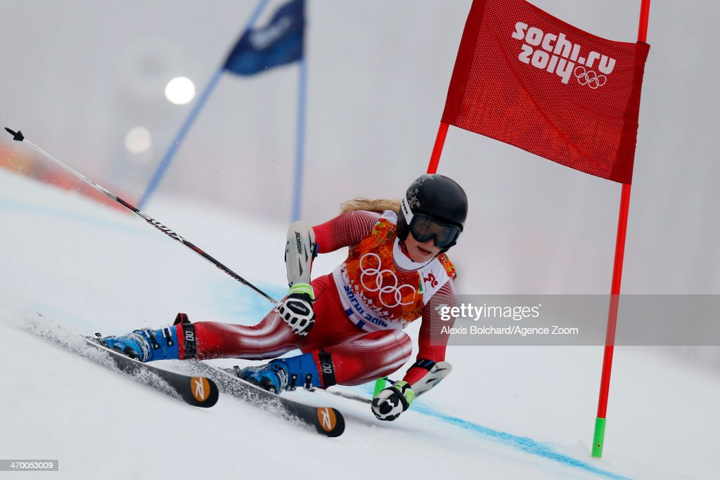 Lara Gut of Switzerland competes during the Alpine Skiing Women's Giant Slalom at the Sochi 2014 Winter Olympic Games at Rosa Khutor Alpine Centre on February 18, 2014 in Sochi, Russia.