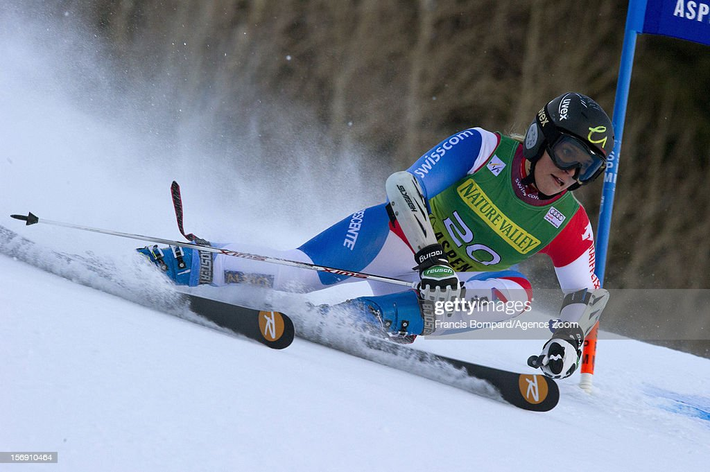 Lara Gut of Switzerland competes during the Audi FIS Alpine Ski World Cup Women's Giant Slalom on November 24, 2012 in Aspen, Colorado.