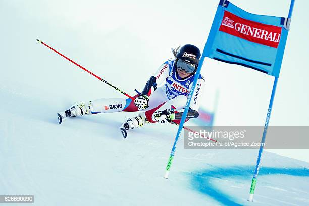 Lara Gut of Switzerland competes during the Audi FIS Alpine Ski World Cup Women's Giant Slalom on December 10 2016 in Sestriere Italy
