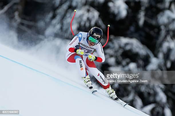 Lara Gut of Switzerland competes during the Audi FIS Alpine Ski World Cup Women's Downhill on January 21 2017 in GarmischPartenkirchen Germany