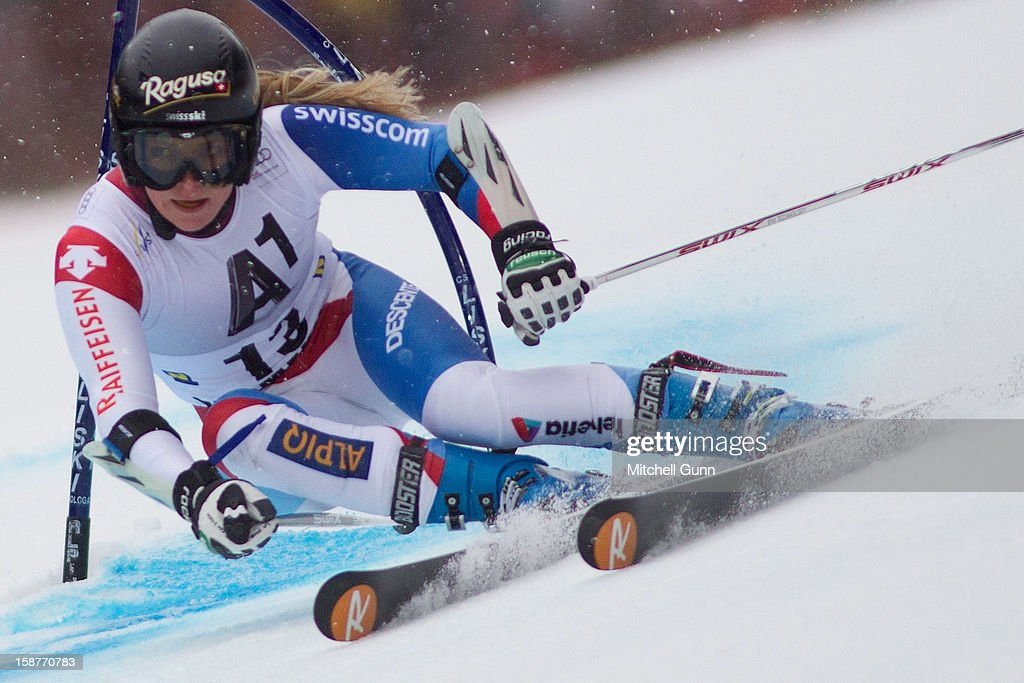 Lara Gut of Switzerland competes in the Audi FIS Alpine Ski World Cup Giant Slalom Race on December 28, 2012 in Semmering, Austria.