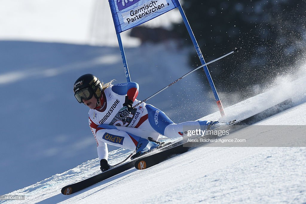 Lara Gut of Switzerland during the Audi FIS Alpine Ski World Cup Women's SuperG on March 03, 2013 in Garmisch-Partenkirchen, Germany.