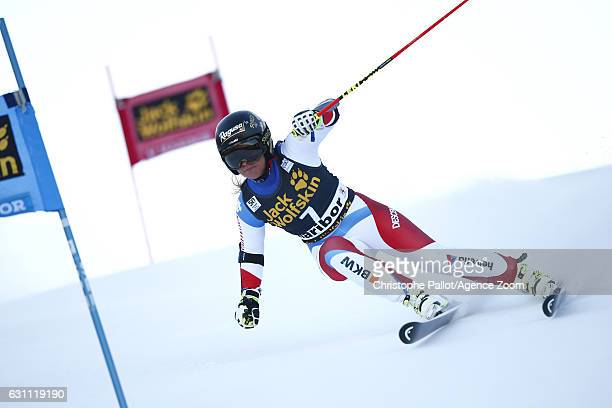 Lara Gut of Switzerland in action during the Audi FIS Alpine Ski World Cup Women's Giant Slalom on January 07 2017 in Maribor Slovenia