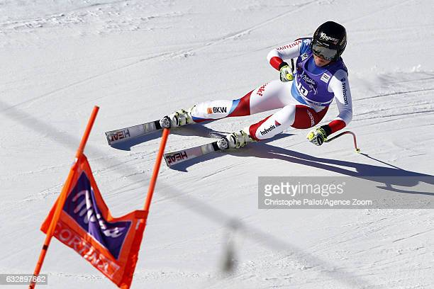 Lara Gut of Switzerland in action during the Audi FIS Alpine Ski World Cup Women's Downhill on January 28 2017 in Cortina d'Ampezzo Italy