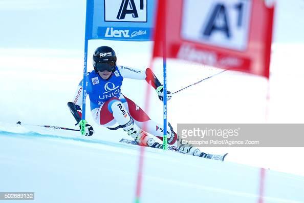 Lara Gut of Switzerland takes 1st place during the Audi FIS Alpine Ski World Cup Women's Giant Slalom on December 28 2015 in Lienz Austria