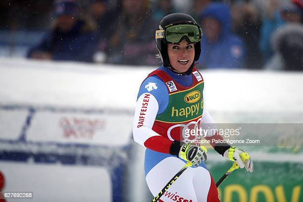 Lara Gut of Switzerland takes 1st place during the Audi FIS Alpine Ski World Cup Women's SuperG on December 4 2016 in Lake Louise Canada