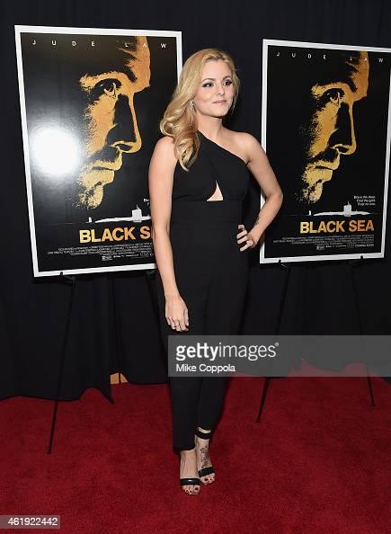 Lara Jade attends the 'Black Sea' New York screening at Landmark Sunshine Cinema on January 21 2015 in New York City