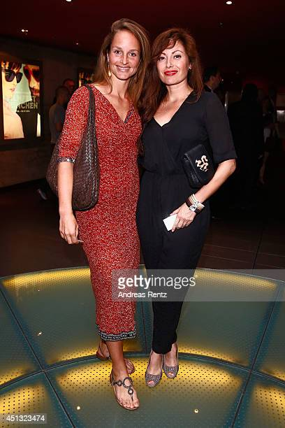 Lara Joy Koerner and Carolina Vera attend the Opening Night of the Munich Film Festival 2014 at Mathaeser Filmpalast on June 27 2014 in Munich Germany
