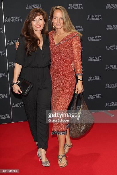 Lara Joy Koerner and Carolina Vera Squella attend the opening night of the Munich Film Festival at Mathaeser Filmpalast on June 27 2014 in Munich...