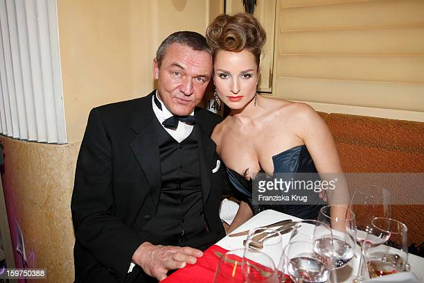 Lara Joy Koerner and her husband Heiner Pollert attend the Germany Filmball 2013 on January 19 2013 in Munich Germany
