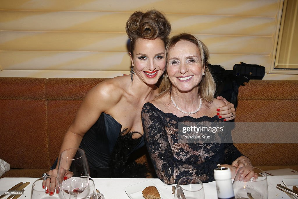 Lara Joy Koerner and her mother Diana Koerner attend the Germany Filmball 2013 on January 19, 2013 in Munich, Germany.