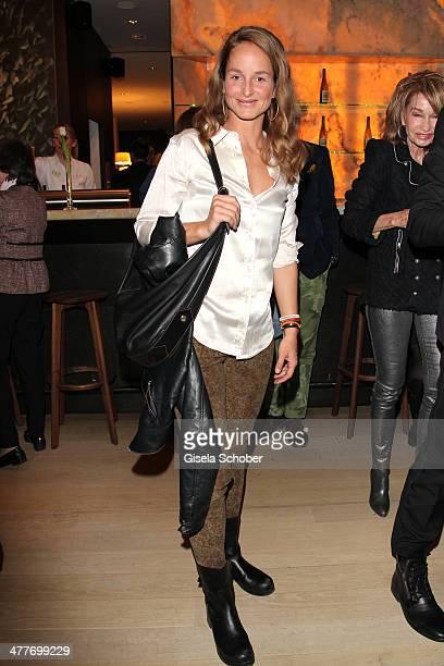 Lara Joy Koerner attends the 'Art Food' cocktail at Ella restaurant at Lenbachhaus on March 10 2014 in Munich Germany