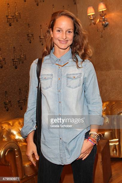 Lara Joy Koerner attends the NDF After Work Presse Cocktail at Parkcafe on March 19 2014 in Munich Germany