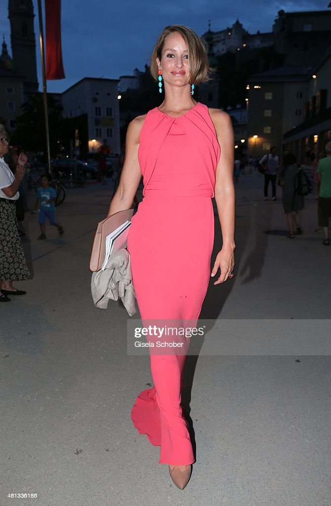 Lara Joy Koerner attends the premiere of 'Jedermann' during the Salzburg Festival 2015 on July 19 2015 in Salzburg Austria