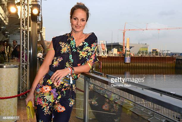 Lara Joy Koerner attends the 'Revenge of the Champagne' event as part of the 50 Year Anniversary of Hawesko on April 10 2014 at Au Quai in Hamburg...