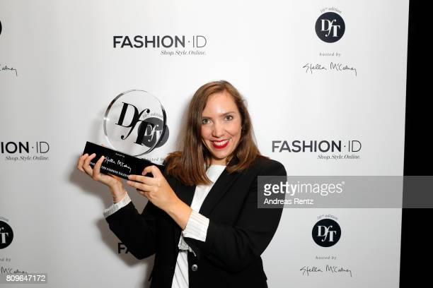 Lara Krude winner of the fashion talent award 'Designer for Tomorrow' by Peek Cloppenburg and Fashion ID hosted by Stella McCartney is seen during...