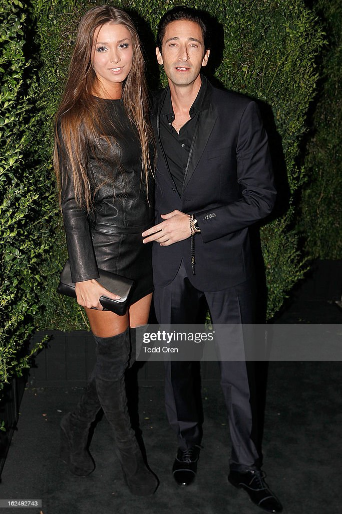 Lara Lieto and Actor <a gi-track='captionPersonalityLinkClicked' href=/galleries/search?phrase=Adrien+Brody&family=editorial&specificpeople=202175 ng-click='$event.stopPropagation()'>Adrien Brody</a> attends the CHANEL Pre-Oscar Dinner at Madeo Restaurant on February 23, 2013 in Los Angeles, California.