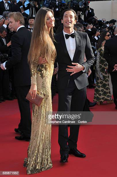 Lara Leito and Adrien Brody attend the 'Behind The Candelabra' premiere during the 66th Cannes International Film Festival