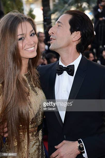 Lara Leito and Adrien Brody attend the 'Cleopatra' Premiere during the 66th Annual Cannes Film Festival at Grand Theatre Lumiere on May 21 2013 in...