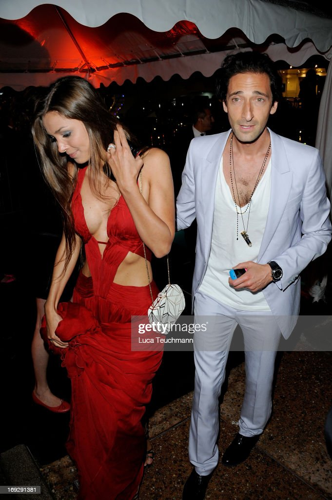 Lara Leito and <a gi-track='captionPersonalityLinkClicked' href=/galleries/search?phrase=Adrien+Brody&family=editorial&specificpeople=202175 ng-click='$event.stopPropagation()'>Adrien Brody</a> attend the Roberto Cavalli Yacht Party during The 66th Annual Cannes Film Festival on May 22, 2013 in Cannes, France.