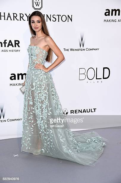 Lara Leito arrives at amfAR's 23rd Cinema Against AIDS Gala at Hotel du CapEdenRoc on May 19 2016 in Cap d'Antibes France
