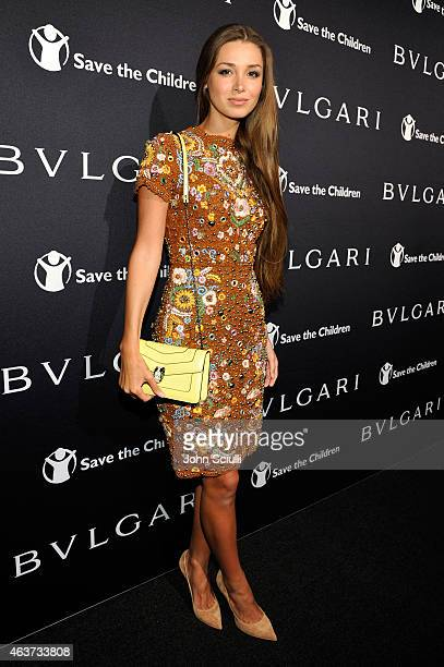 Lara Leito attends BVLGARI and Save The Children STOP THINK GIVE PreOscar Event at Spago on February 17 2015 in Beverly Hills California